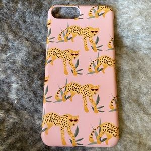 H&M iPhone 7+/8+ case pink cheetah